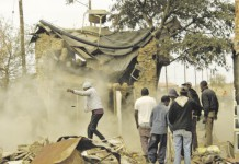 sangoma house destroyed